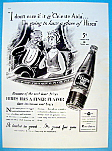 1937 Hires Root Beer W/woman & Man Sitting In Balcony