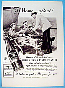 1937 Hires Root Beer w/Waiter Serving Man & Woman (Image1)