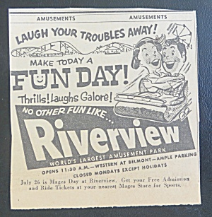 1958 Riverview Amusement Park with Roller Coaster (Image1)