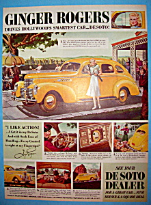 Vintage Ad: 1938 De Soto With Ginger Rogers