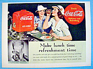 1939 Coca Cola With 2 Women Having Lunch