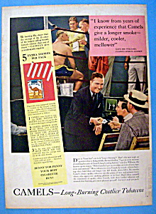 Vintage Ad: 1939 Camel Cigarettes w/ Joe Williams (Image1)
