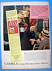 Vintage Ad: 1939 Camel Cigarettes w/ Joe Williams (Image1)