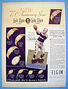 Vintage Ad: 1939 Elgin Watches w/ Earl Brown (Image1)