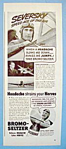 Vintage Ad: 1939 Bromo Seltzer w/Alex De Seversky (Image1)
