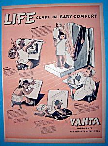 Vintage Ad: 1939 Vanta Garments For Infants & Children (Image1)