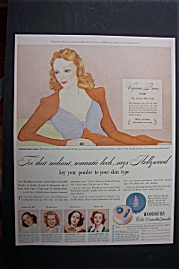 Vintage Ad: 1941 Woodbury Powder With Virginia Bruce