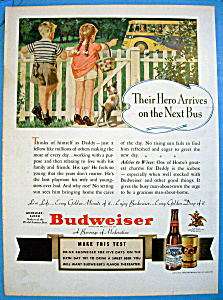 Vintage Ad: 1940 Budweiser Beer (Image1)