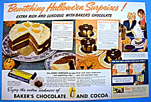 1937 Baker's Chocolate With Enchanted Chocolate Cake