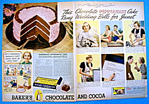 1937 Baker's Chocolate With Chocolate Peppermint Cake