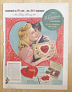 1941 Whitman's Sampler with Woman Hugging Man  (Image1)