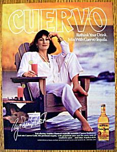 Vintage Ad: 1987 Cuervo Tequila w/Anjelica Huston (Image1)