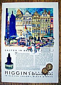 Vintage Ad: 1931 Higgins' American Drawing Inks (Image1)