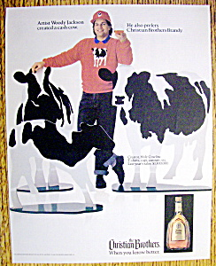 Ad: 1990 Christian Brothers Brandy w/Woody Jackson (Image1)