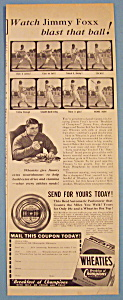 Vintage Ad: 1941 Wheaties Cereal with Jimmy Foxx (Image1)