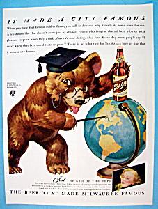 Vintage Ad: 1942 Schlitz Beer (Image1)