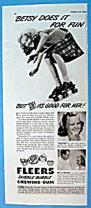 Vintage Ad: 1942 Fleers Dubble Bubble Chewing Gum (Image1)