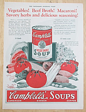 1925 Campbell's Vegetable Soup with Can of Soup  (Image1)