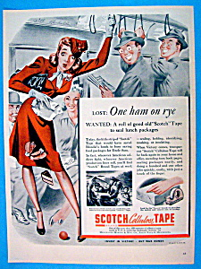 Vintage Ad: 1944 Scotch Cellulose Tape