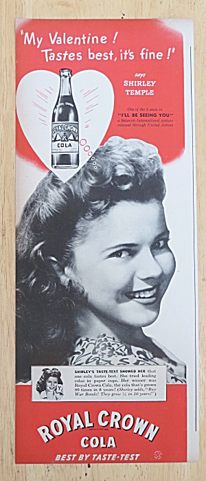 1945 Royal Crown Cola with Shirley Temple (Image1)