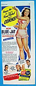 Vintage Ad: 1945 Blue Jay Corn Plasters (Image1)