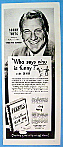 Vintage Ad: 1946 Fleers Peppermint Gum W/sonny Tufts