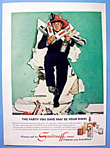 Vintage Ad: 1966 Smirnoff Vodka With Buddy Hackett