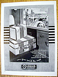 Vintage Ad: 1947 Oshkosh Luggage