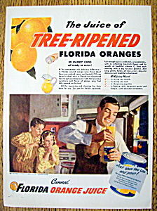 Vintage Ad: 1947 Florida Canned Orange Juice (Image1)