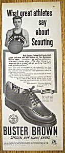 Vintage Ad: 1950 Buster Brown Shoes w/Bob Davies (Image1)