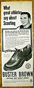 Vintage Ad: 1951 Buster Brown Shoes w/Sid Abel (Image1)