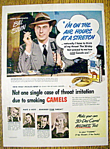 Vintage Ad: 1950 Camel Cigarettes With Bill Stern