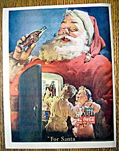 Vintage Ad: 1950 Coca Cola with Santa Claus (Image1)