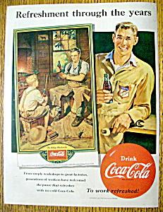 Vintage Ad: 1951 Coca Cola With The Village Blacksmith (Image1)