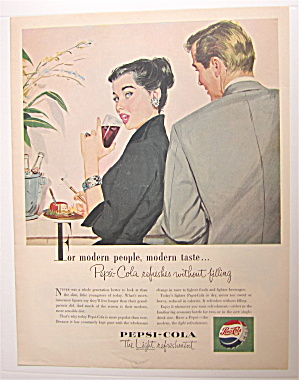 1953 Pepsi Cola (Pepsi) With Man Looking At Woman