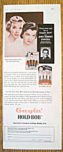 Vintage Ad: 1953 Gayla Hold Bob w/ Powers Girls (Image1)