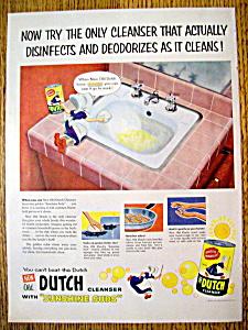 Vintage Ad: 1954 Old Dutch Cleanser (Image1)