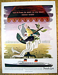 Vintage Ad: 1954 French Line (Image1)