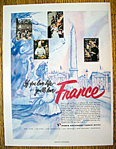 Vintage Ad: 1954 French Government Tourist Office (Image1)