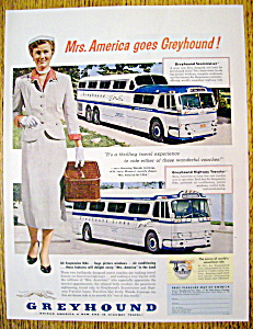 Vintage Ad: 1954 Greyhound With Mrs. America
