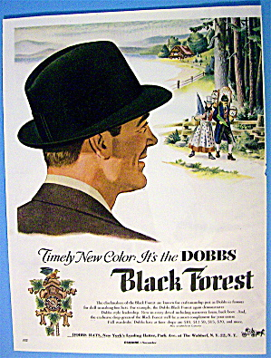 1954 Dobbs Black Forest Hats with Man Watching Couple (Image1)