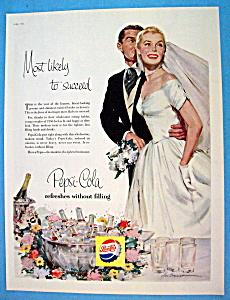 1956 Pepsi Cola (Pepsi) w/Bride & Groom Standing (Image1)