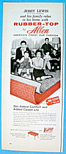 Vintage Ad: 1959 Allen Rubber Top With Jerry Lewis