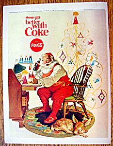 1966 Coca Cola (Coke) with Santa Claus By Desk (Image1)