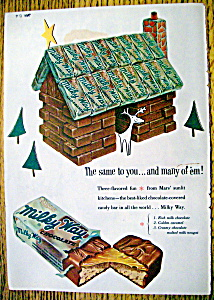 Vintage Ad: 1954 Milky Way Chocolate Candy Bar