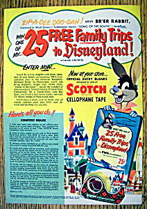 Vintage Ad: 1956 Scotch Cellophane Tape W/ Brer Rabbit