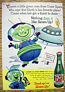 1957 Seven Up (7 Up) Soda W/little Green Man From Space
