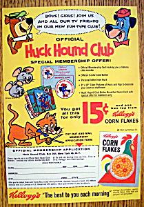 Vintage Ad: 1988 Kellogg's Corn Flakes with Huck Hound (Image1)