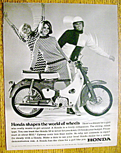 Vintage Ad: 1967 Honda With Cheryl Tiegs