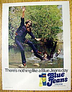 Vintage Ad: 1973 Blue Jeans Cologne (Image1)